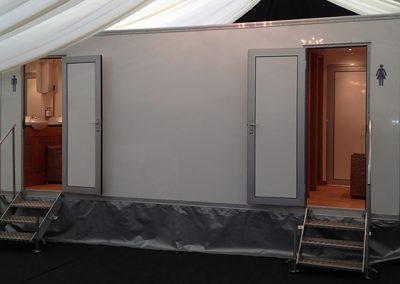 Large Deluxe White Mobile Toilet Unit
