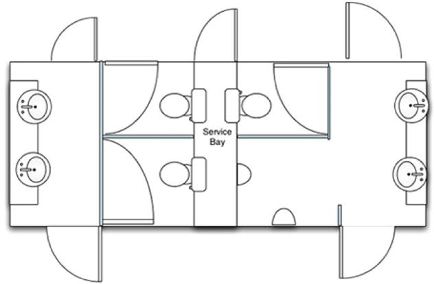 Mid Deluxe White Moible Toilet Unit Plan