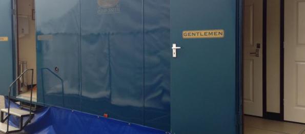 Large Luxury Blue Mobile Toilet Unit