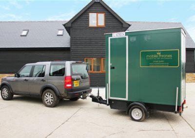 Mini Deluxe Green Mobile Toilet Unit 2