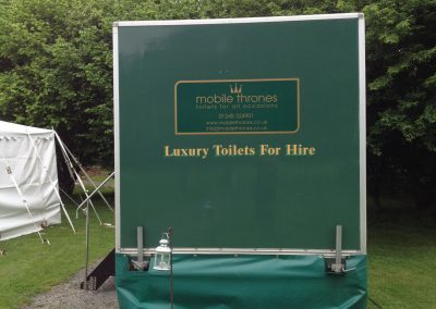 Mid Deluxe Green Mobile Toilet Unit 4