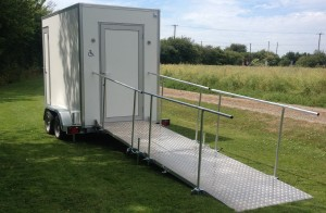 White Mobile Disabled Toilet Hire
