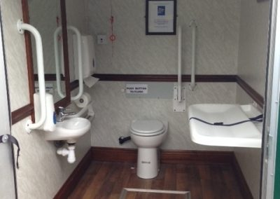 Luxury Mobile Disabled Toilet Interior