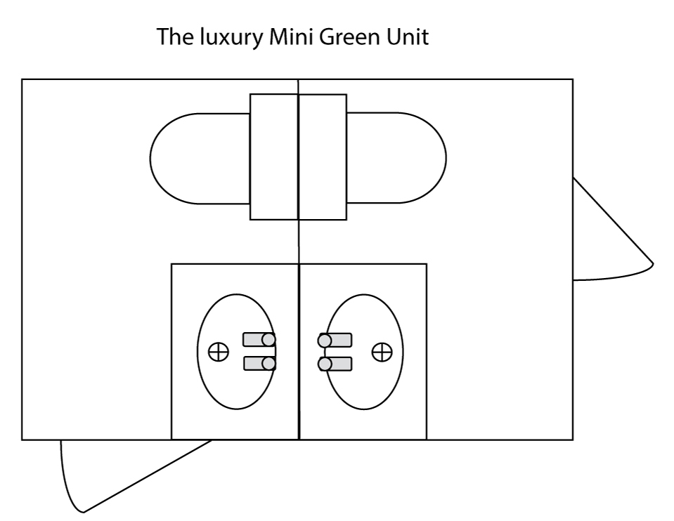 Mini Deluxe Green Mobile Toilet Plan