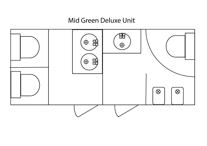 Mid Deluxe Green Mobile Toilet Plan