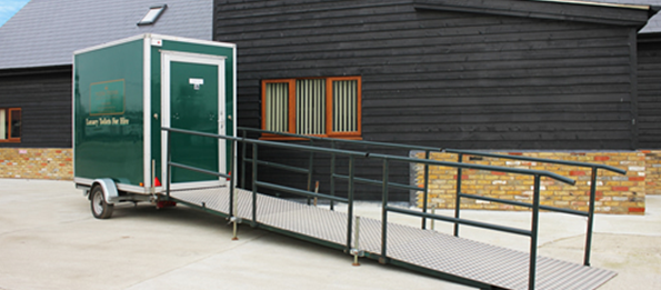 Disabled Deluxe Green Mobile Toilet Unit
