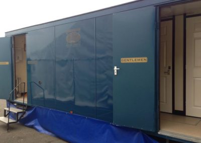 Large Luxury Blue Mobile Toilet Unit 1