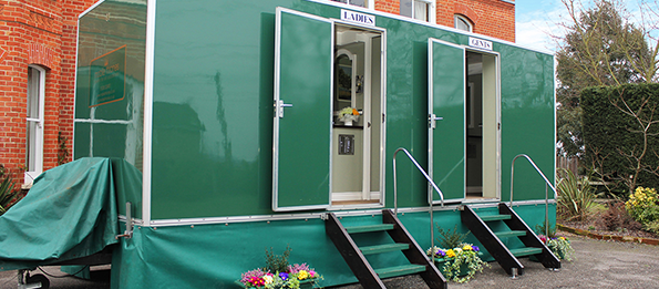 Large Deluxe Green Mobile Toilet Unit