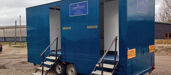 Large Standard Blue Mobile Toilet Unit