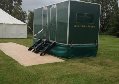Mid Deluxe Green Mobile Toilet Unit 5