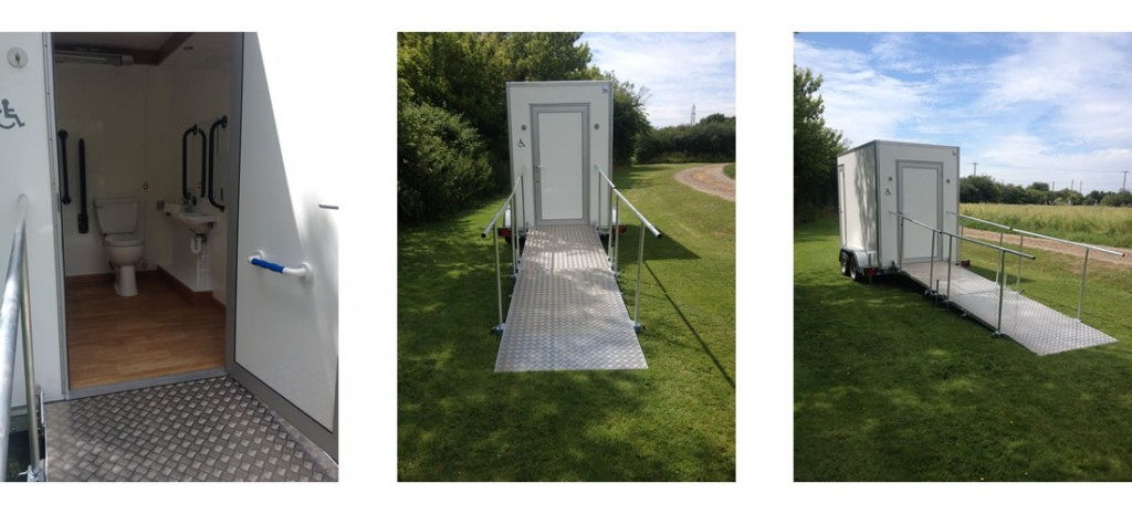 White Mobile Disabled Toilet Unit